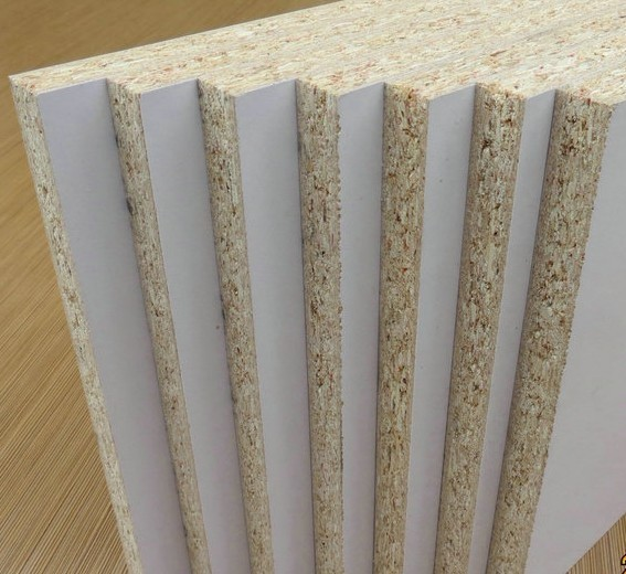 18mm white chipboard /melamine particle board /walnut laminated chipboard