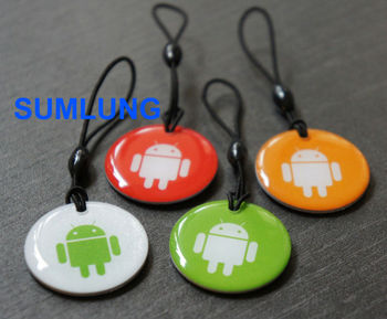 waterproof 13.56MHz RFID Tags with strap NFC Passive Keyfob