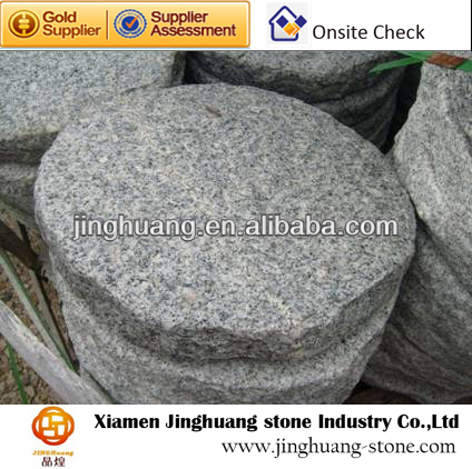 Round Grey Granite Slab Solid Stone