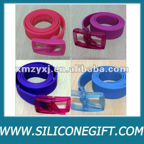 trendy fashion adult/golf silicone belt