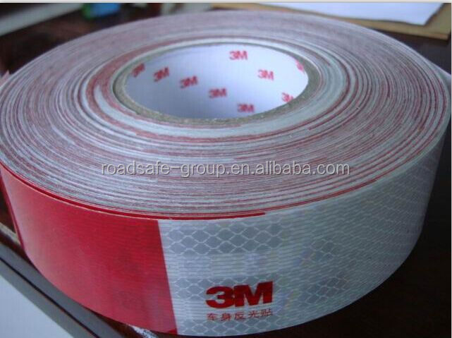 RSG colorful adhesive marking tape reflective road marking tape with refelctive glass beads