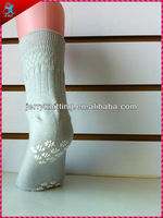 plain colored non slip sock for adults