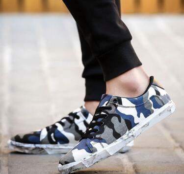 Personality fashion lovers camouflage canvas shoes