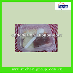 Lunch Box Food Grade Plastic Food Container with Divider china manufacturers