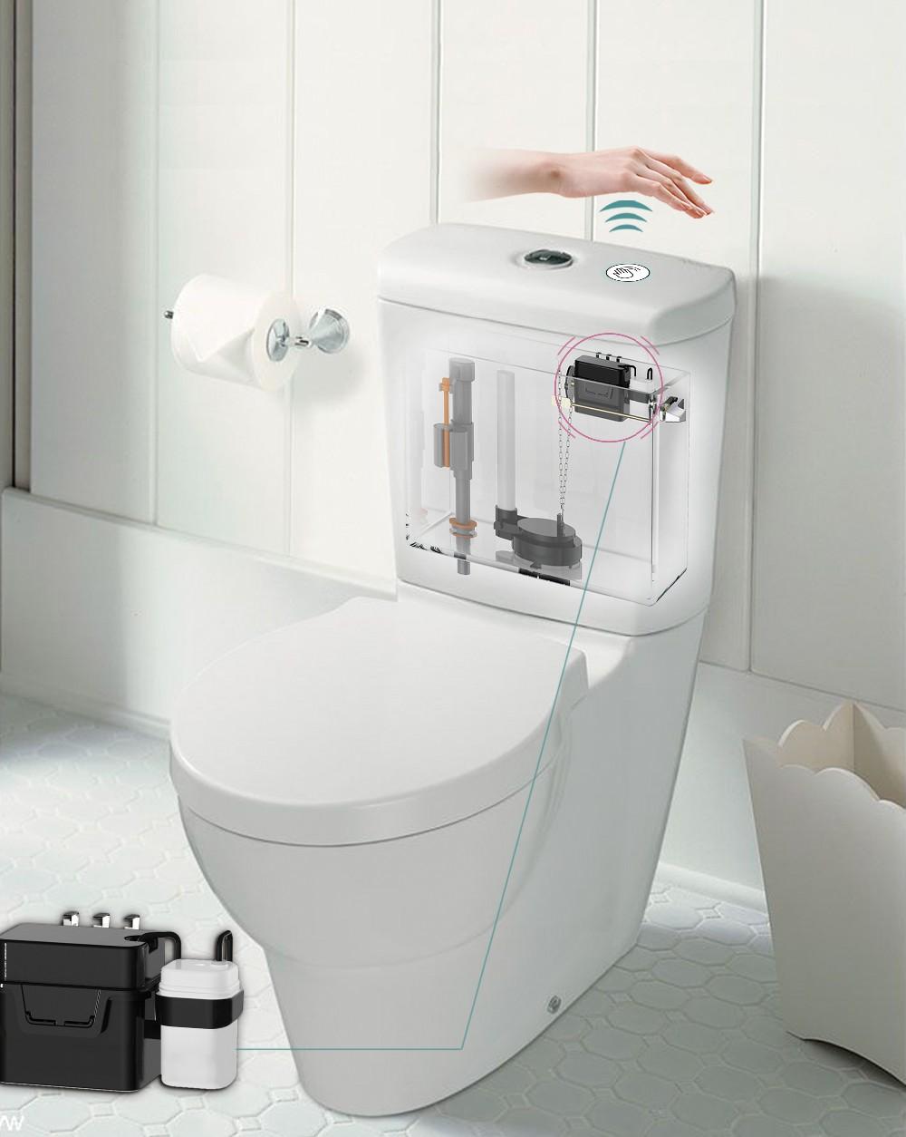 Modern Lavatory Appliance Wave Sensor Toilet Tank Flush