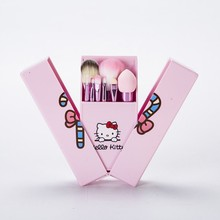 Hello Kitty Hello Kitty PINK MAKEUP BRUSH KT Cat 8pcs boxed set portable <strong>cosmetics</strong> wholesale