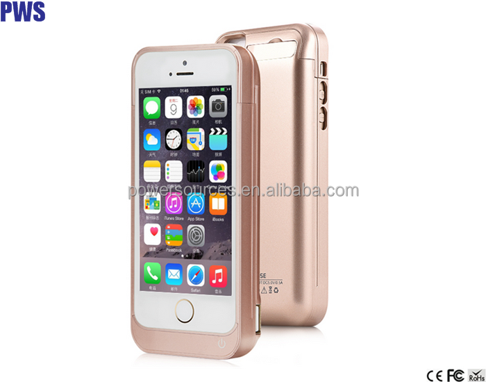 For iPhone 5/5s Battery Charger Case 4200mAh Power Case wireless charger case External Battery Pack