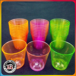 Translucent Colorful Disposable Plastic Cup