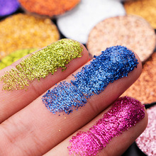 High Pigment Metallic Custom Makeup Glitter Single Eyeshadow Pan Private Label Eye Shadow Palette Cosmetic