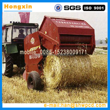 round tractor hay crop/grass/wheat straw bundling machine/round hay baler