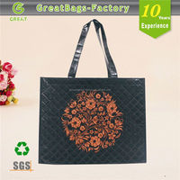 New Patent Croco Weaving Dual Handbag Pp Woven Bag