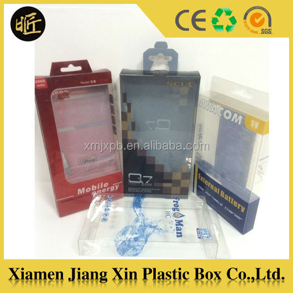Factory price cell phone case storage box plastic packaging