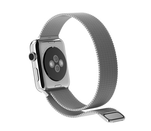 1:1 Original Design Magnetic Milanese Loop Metal Watch BandFor Apple Watch Band Woven Stainless Steel Mesh Wrist Strap