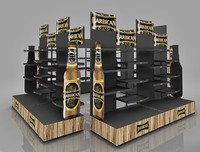 2015 metal liquor floor display shelf for Bacardi
