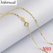 Make New design 0.8mm gold tone 925 Silver Jewelry Machine Making Ladies Neck Chain