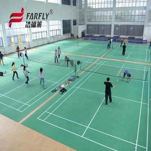 4.5mm thickness green color badminton floor mat