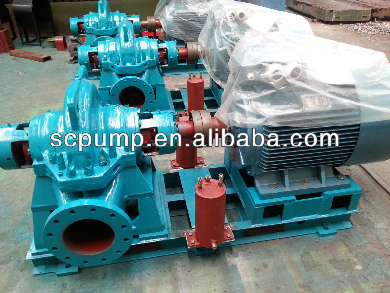 COS industrial Double suction high volume water pump