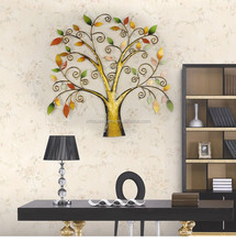 Lucky tree shaped metal home decor wall art decoration