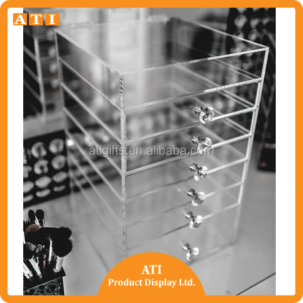 2016 NEW PRODUCTS Acrylic Makeup Organizer Cosmetic Display Holder Case Display Stand