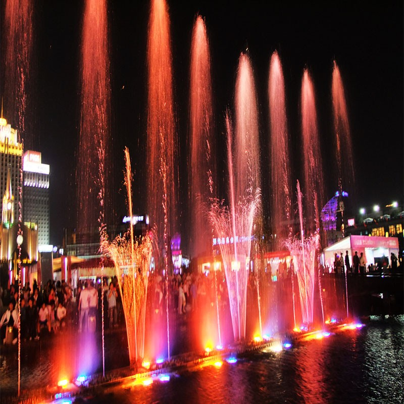 Multicolor LED Light Design Outdoor Musical Dancing Water Fountain Show on Square