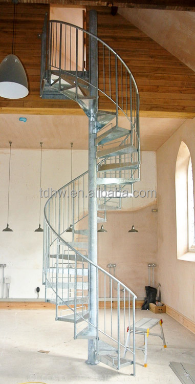 Metal spiral staircase wrought iron spiral stairs buy for Aluminum spiral staircase prices