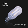 CE RoHS UL dimmable filament led bulb T45 2W led bulb lights e27