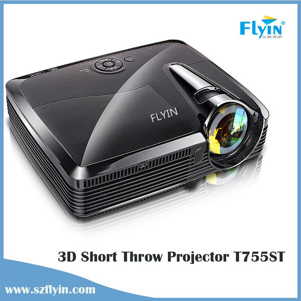 HDMI DLP T755ST Short throw Video Projector Led education 200Inches Home Theater 3D Projector