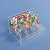 DIY clear plexiglass lollipop stand small holes acrylic cake pop display holder