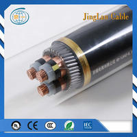 IEC 3.6/6kv Cu/XLPE/SWA/PVC 3 cores 120mm2 cost of power cable