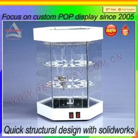 Hot sale clear phone /jewelry retail shop glass display cabinet