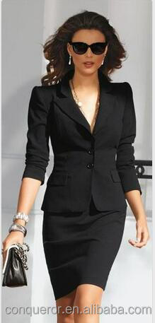 made to measure white women's black dress suit,trendy women's suit