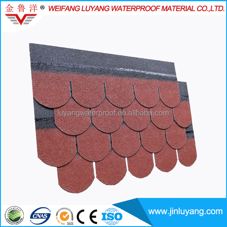 High Quality Roofing Material Colorful Round Asphalt Shingle Price