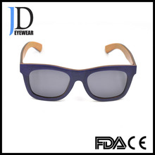 Customized Fashion Polarized Lenses Laminated Wood Mens Sunglasses with CE/FDA Approval