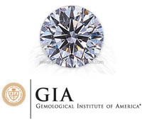 1 Carat Round Gia Certified Color I2 Clarity Diamond Jewelry Wedding Rings Sets Anniversary