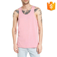 Custom Men Fashion Mens High Quality Slub Cotton Back Tank Top Manufacturer