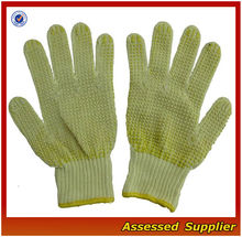 Cut Resistance kevlar gloves/pvc dots working gloves