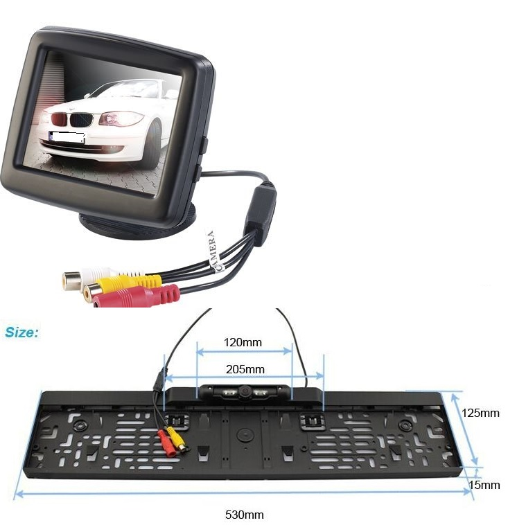3.5 inch TFT LCD parking rearview car monitor