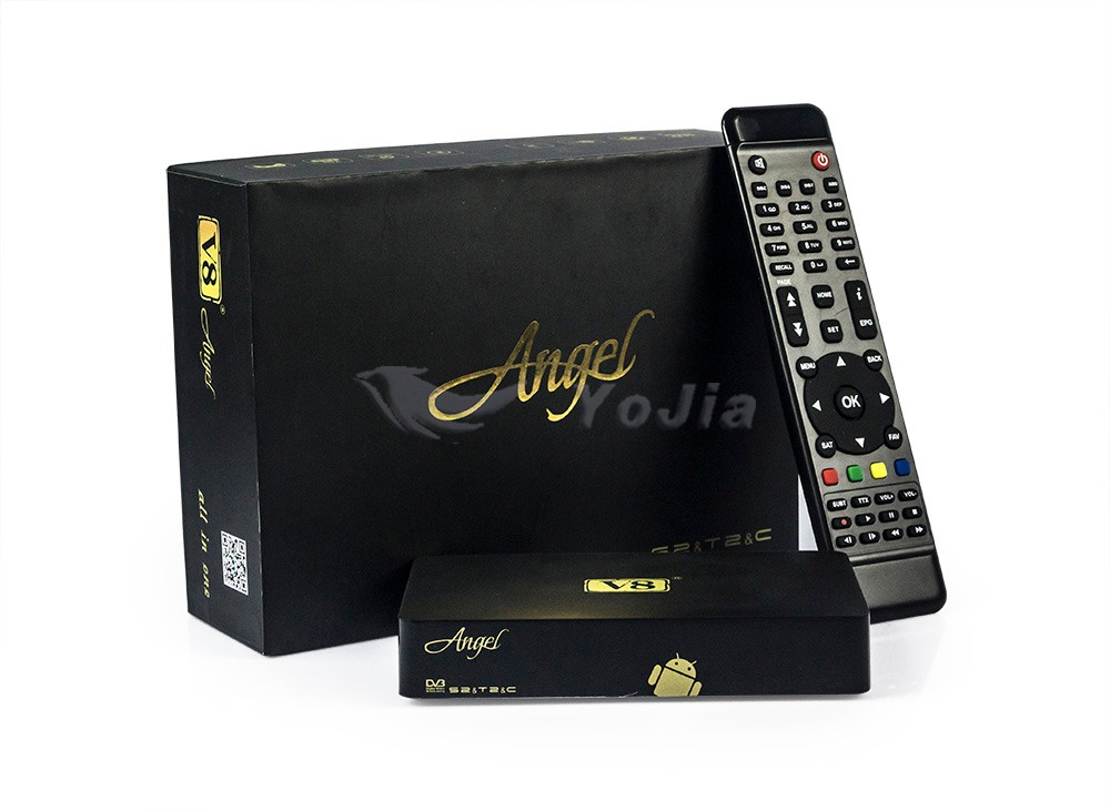 [Genuine] V8 Angel DVB-S2&T2/C Amlogic S805 TV BOX with Tuner 1GB 8GB OTT IPTV Online Satellite Terrestrial Combo Receiver