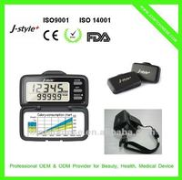 J-Style China Branded 3D Acceleration Multifunction Precise 3 Button Calorie Day Counter