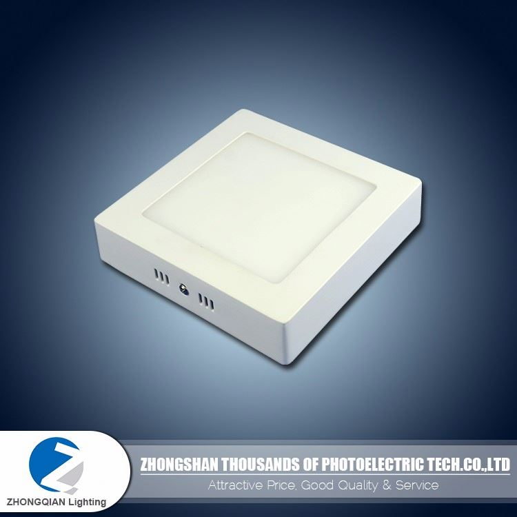 Easy installation 6w milky square housing small led panel light