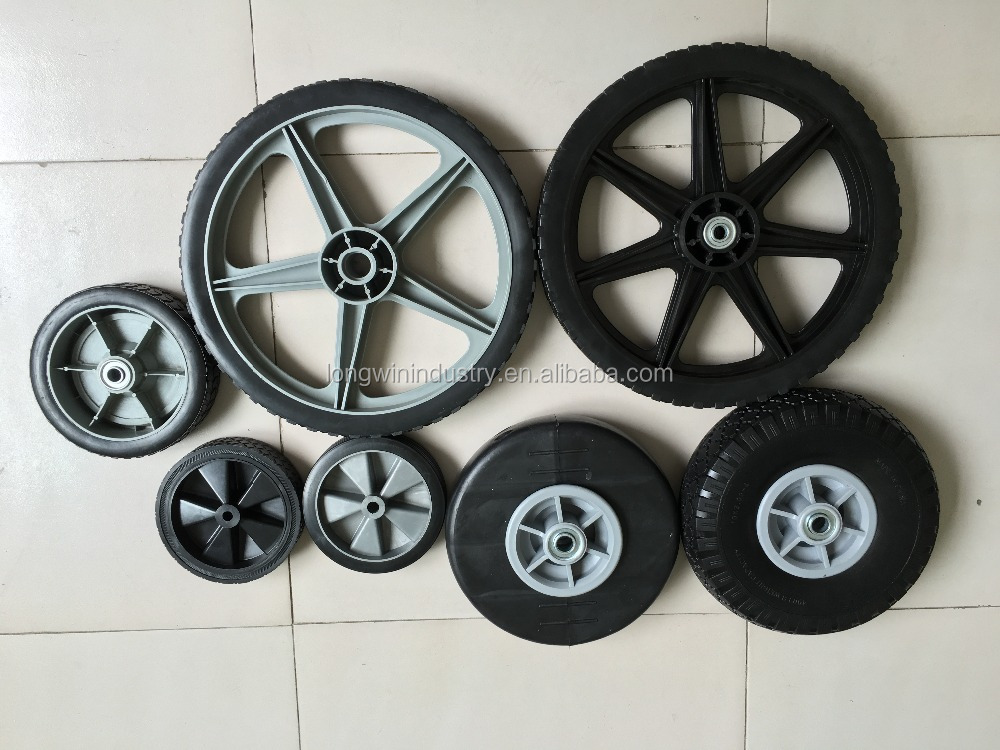 10 inch 4.10/3.50-4 plastic rubber wheel