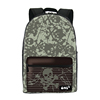 One2 Design army green skull printing school backpack for teenage students