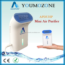 Mini ozone air sterilizer for home and car use with battery power supply