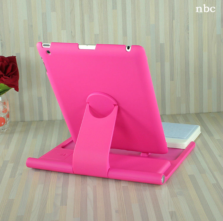 360 rotate Universal&Cheap genuine leather case keyboard for ipad