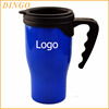 Best selling promotional gift plastic coffee mug with lid and handle customized logo printing travel mug