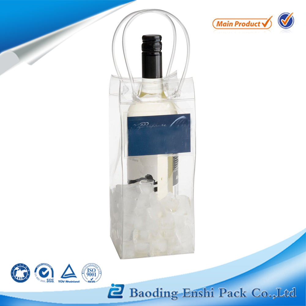 PVC Plastic Type and Plastic Material Clear Wine Bottle Bag