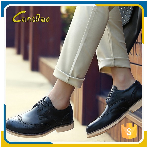 2016 New arrival lace up height increasing man dress shoes