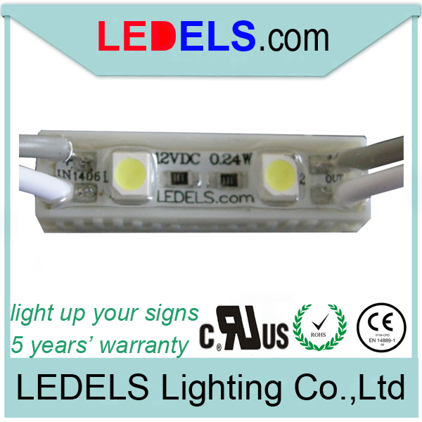 5 years warranty LED sign light 2 led, 0.24Watt 16lm 12v 3528 2 led module normal for Mini channel letter led backlit