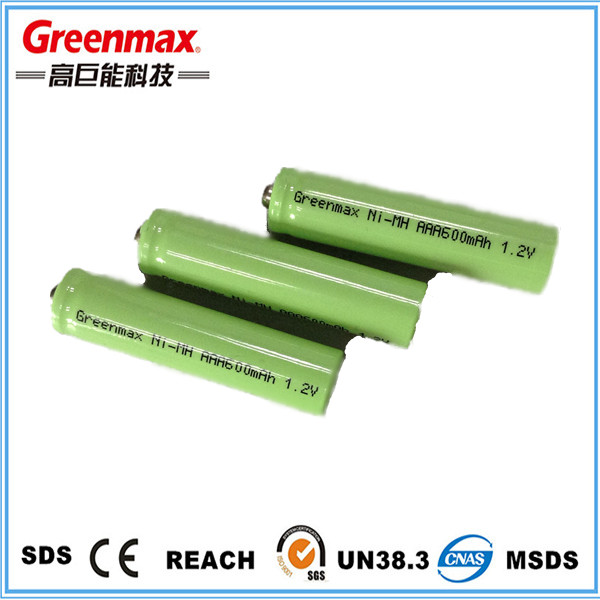 2.4v rechargeable battery ni mh aaa 2.4v battery pack 600mah