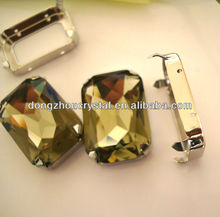 crystal Fancy stones with metal setting for clothing